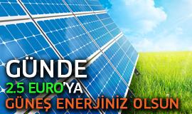 Günde 2.5 Euro'ya Güneş Enerjisi Sistemi